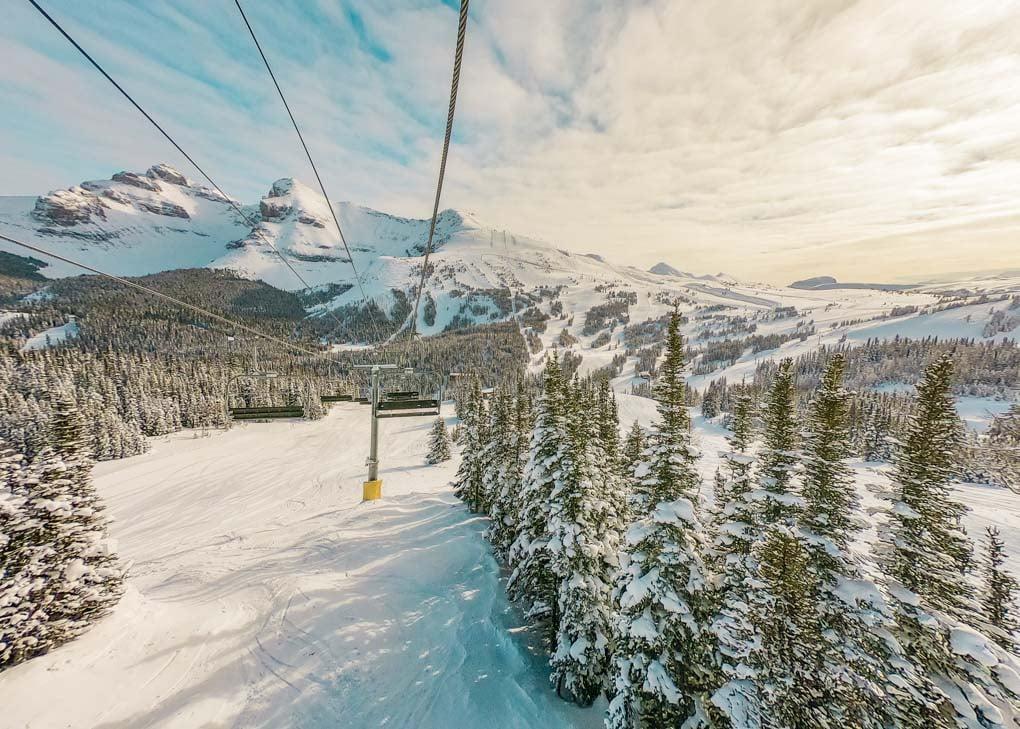 Sunshine Ski resort in Banff national Park