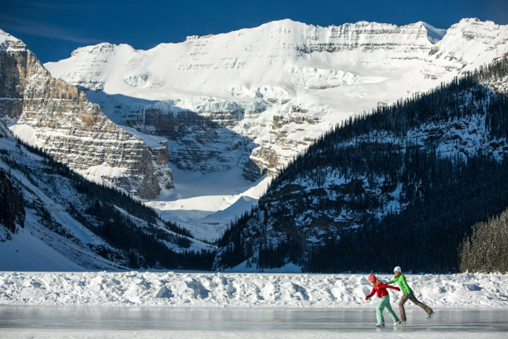 Isce skating in Banff and Lake Louise National Park