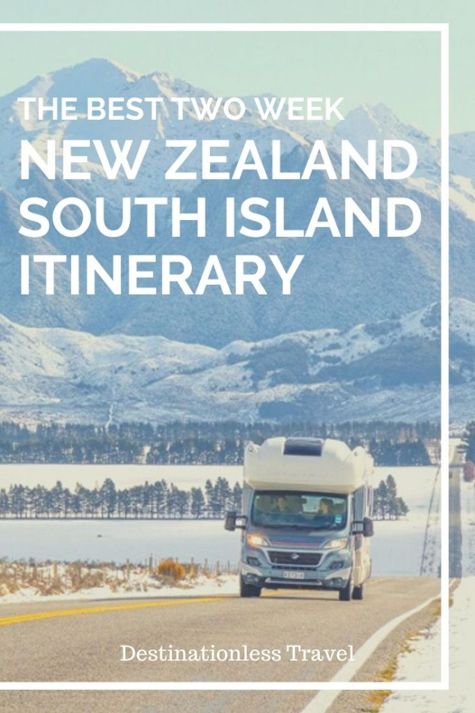 New Zealand south island itinerary pin