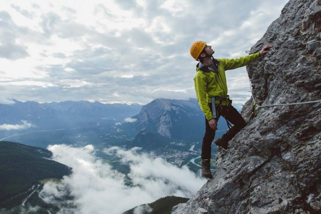 Rock climbing in Banff Alberta