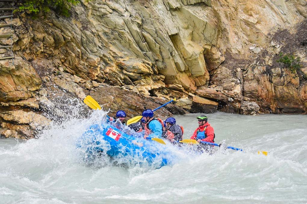 White water rafting in Banff, Canada