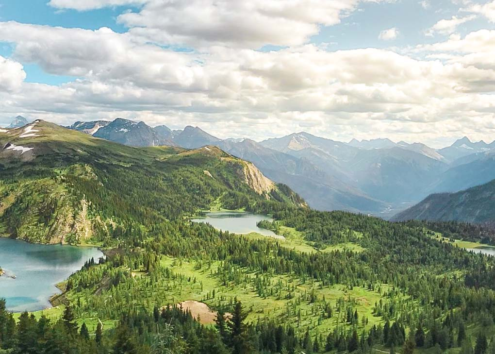 Views from the Sunshine Village Ski Resort in Banff, Alberta