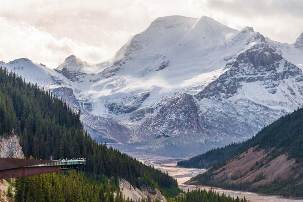 The Skywalk at the Athabasca Glacier near Banff, Canada