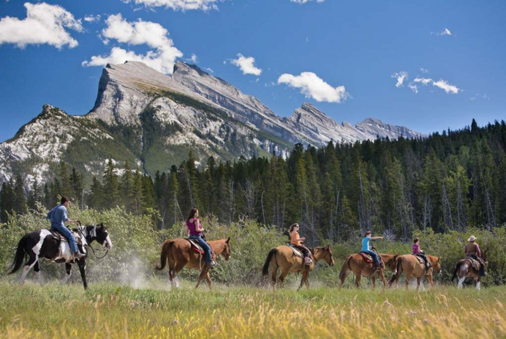 Horse riding in banff National Park, Canada