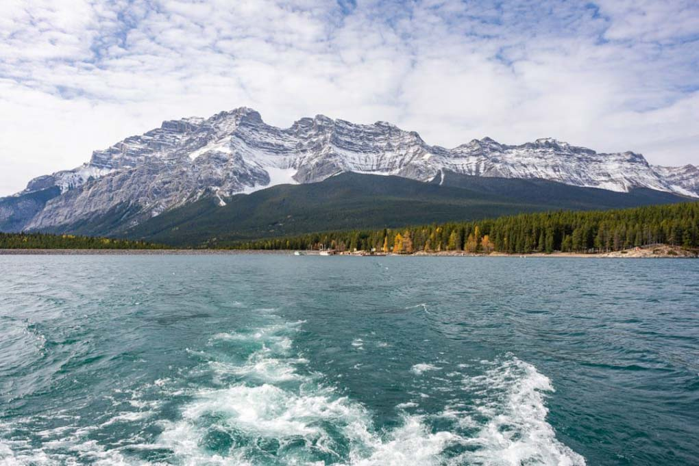 The views of the mountains on a Lake Minnewanka Cruise near Banff