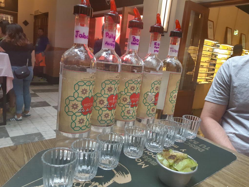 Tasting mezcal in Mexico City