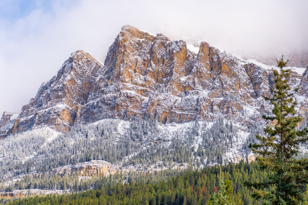 Castle Mountain along Bow Valley Parkway