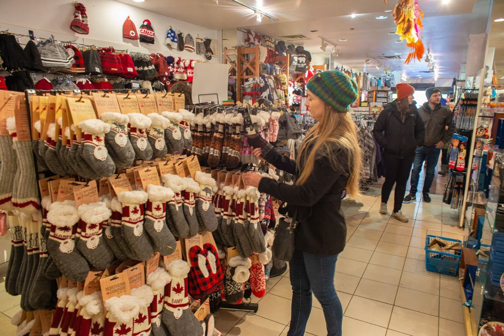souvenir shopping in banff