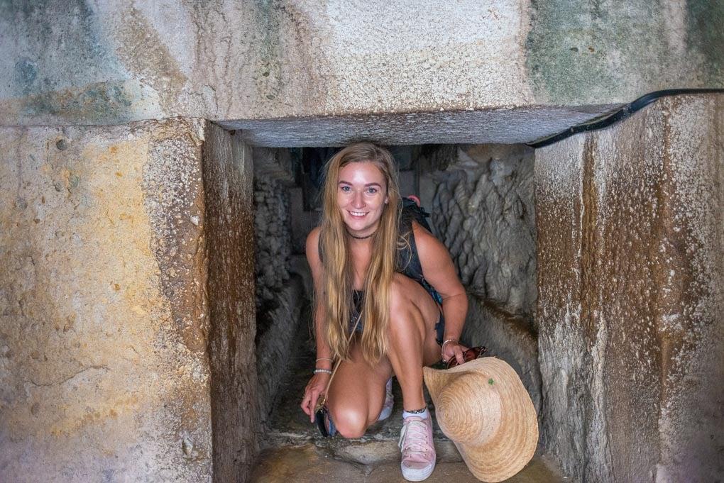 Exploring the ancient ruins of Mitla, Oaxaca