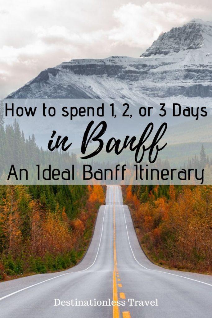 ideal banff itinerary pin