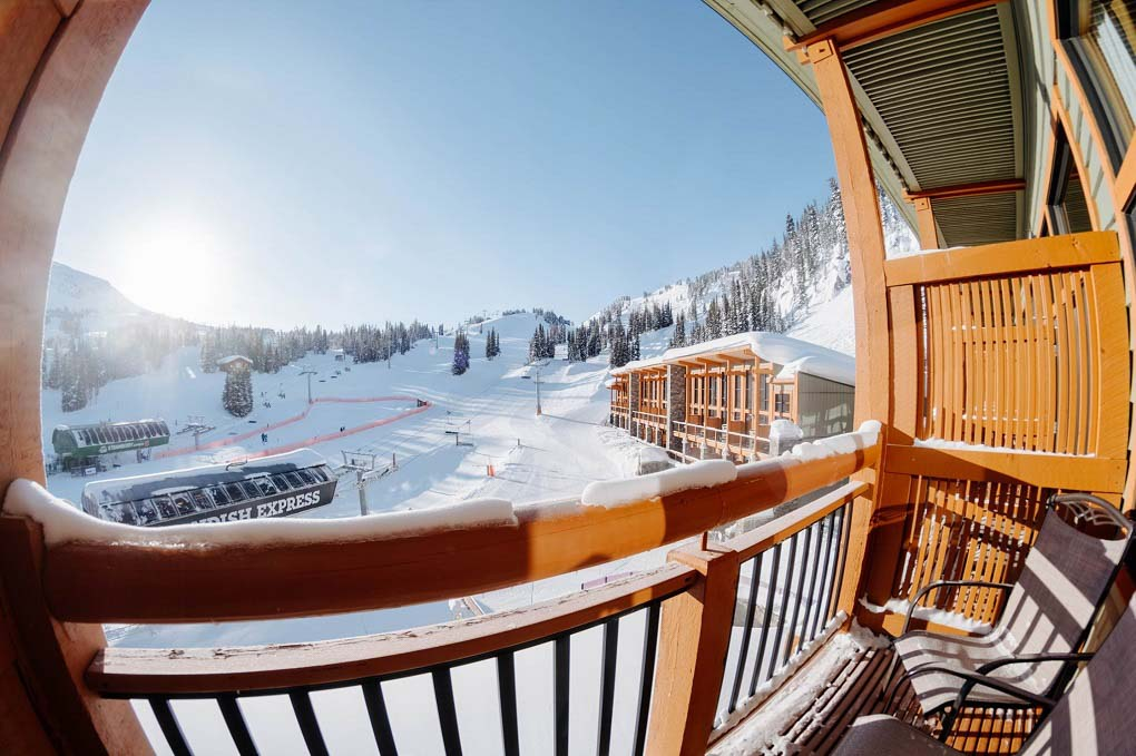 View from a room at the Sunshine Village Lodge, Banff