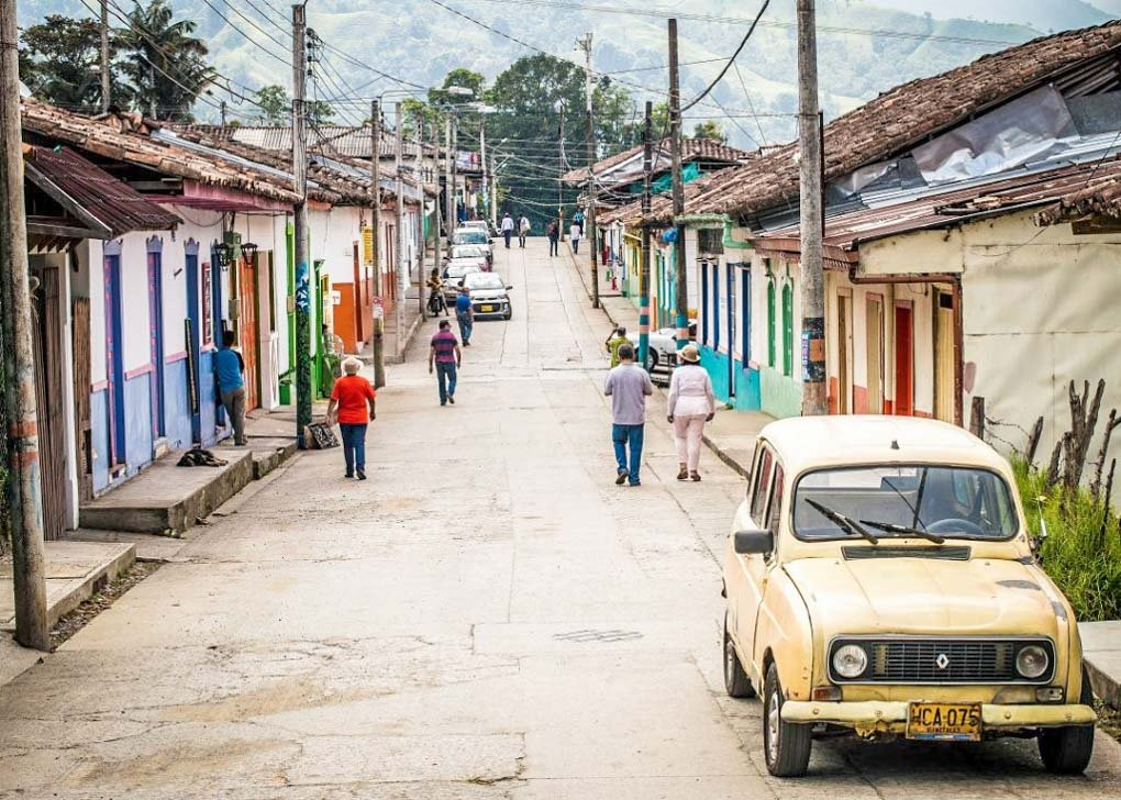 The streets are very pretty in Salento, Colombia!