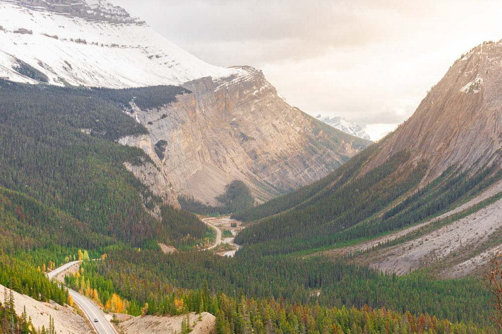Big Hill lookout on the Icefields Parkway, Canada