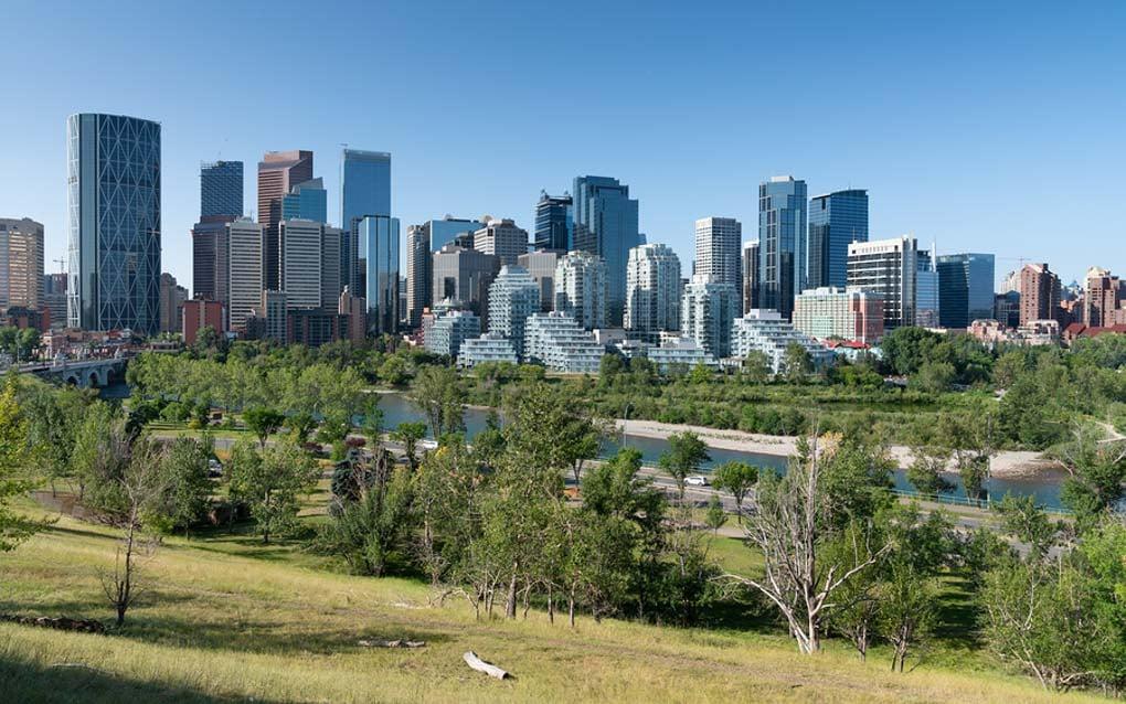 The city skyline of Calgary