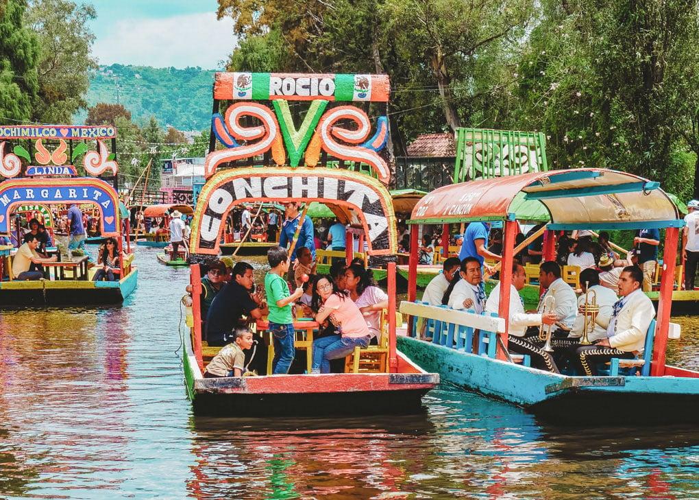 Xochimilco Canals near Mexico City