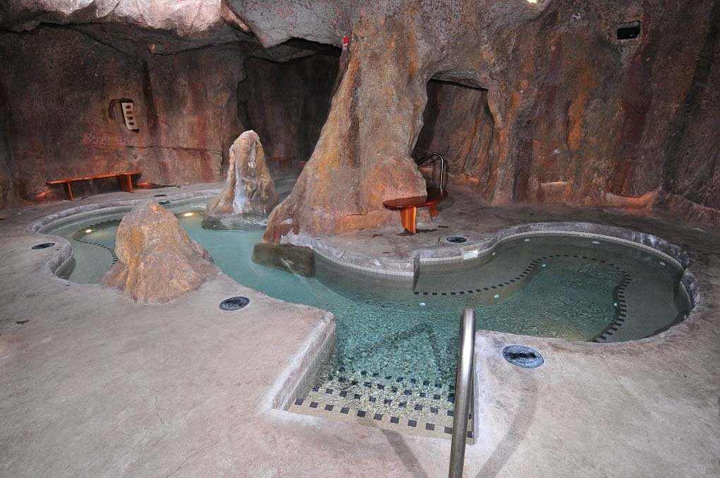 The cave spa at the Fox Inn & Suites