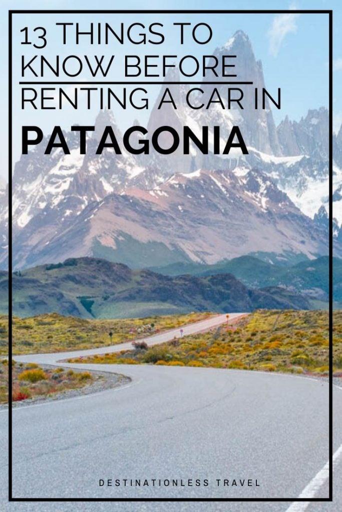 Renting a car in Patagonia Pin