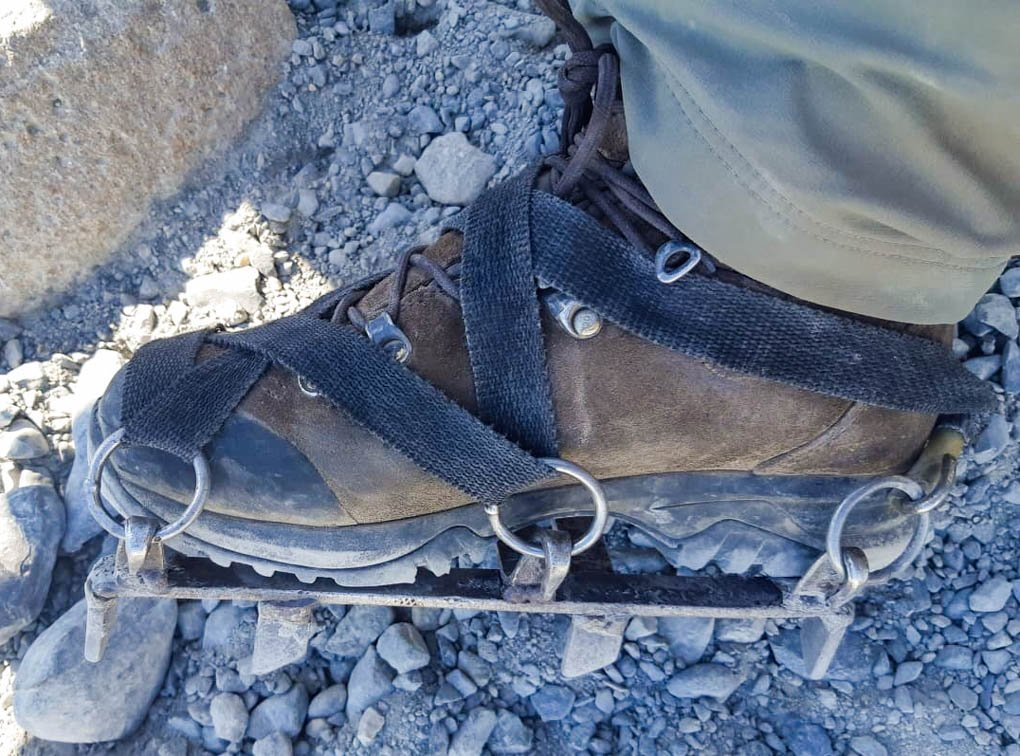 crampons for walking on perito moreno glacier