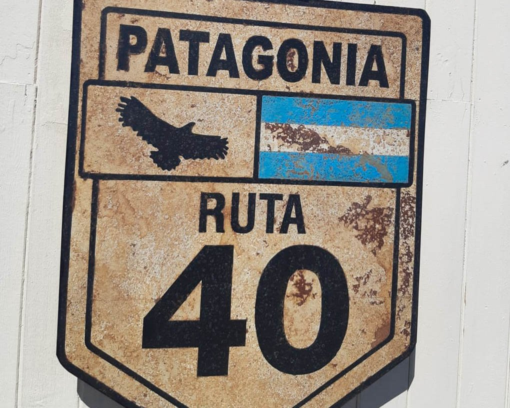 Ruta 40 highway sign Argentina