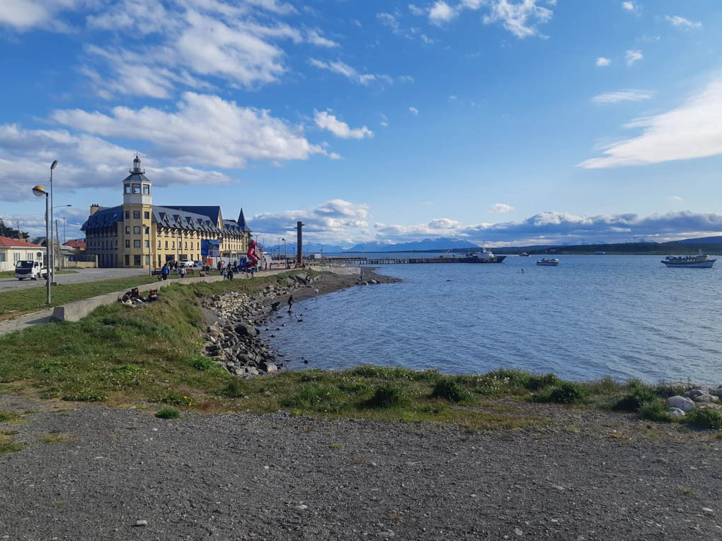 The shore front of Puerto Natales, Chile