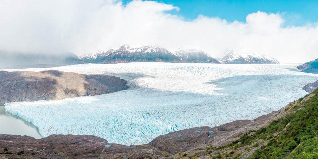 Glacier Grey on the Torres del Paine W Trek