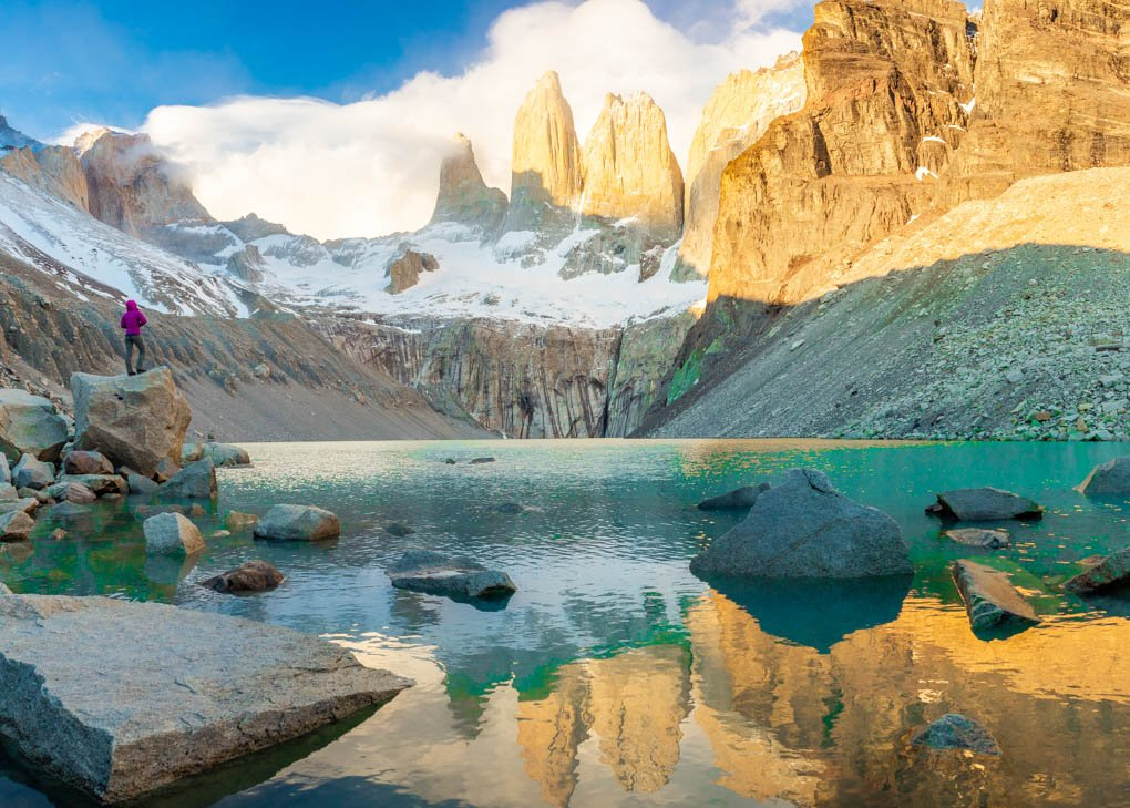 Las Torres Viewpoint in Torres del Paine National Park, Chile