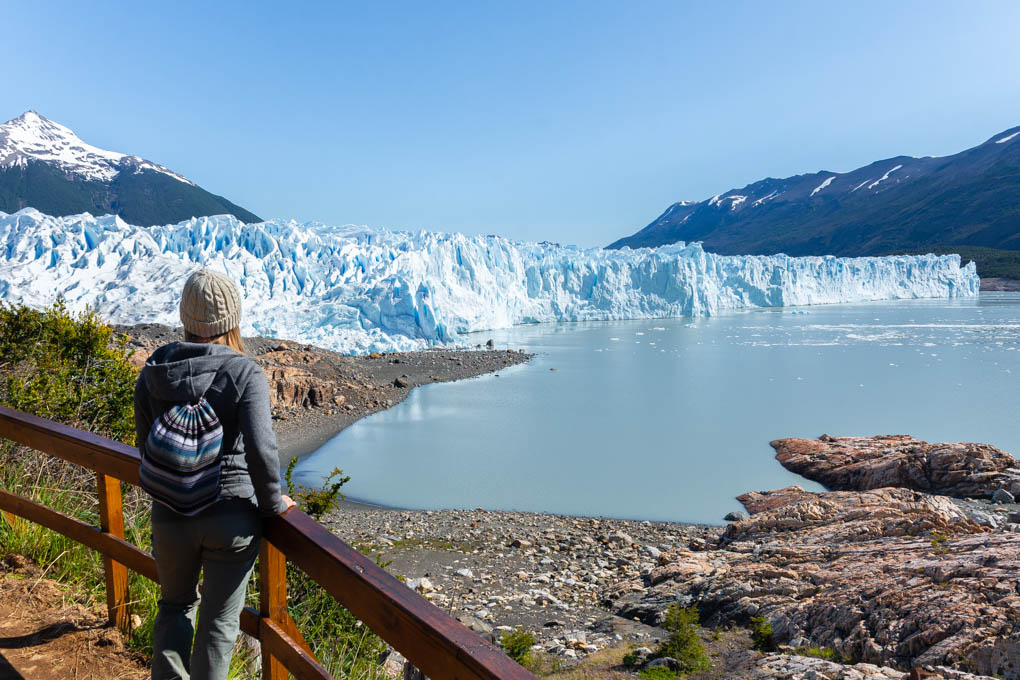 walk between the lodge and perito moreno glacier trekking departure point