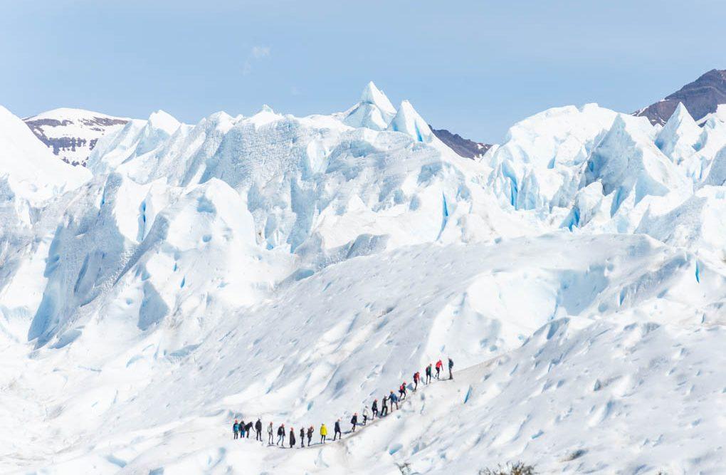 trekking on perito moreno glacier in argentina