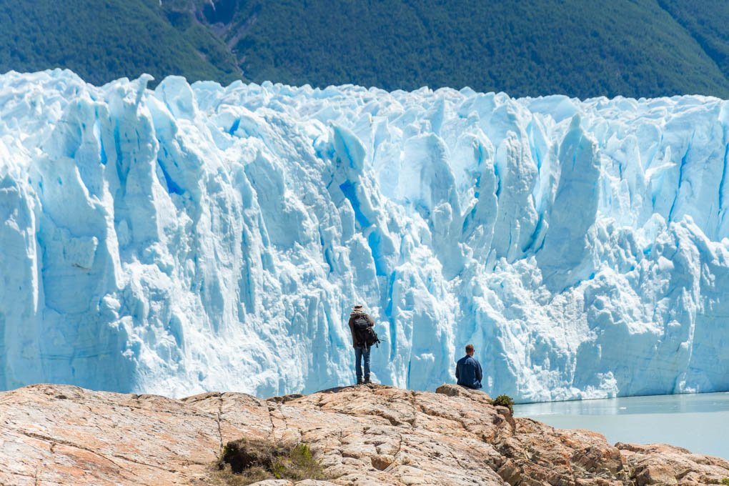 Watching the Perito Moreno Glacier near El Calafate, Argentina