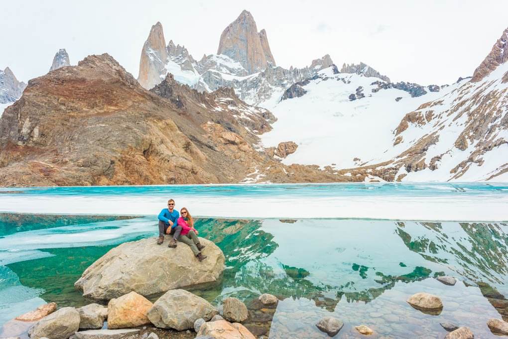 Laguna del los Tres El Chalten, Argentina with Cerro Fitzy Roy in the background