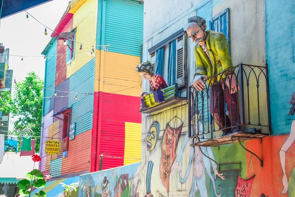The colorful streets of La Boca, Buenos Aires