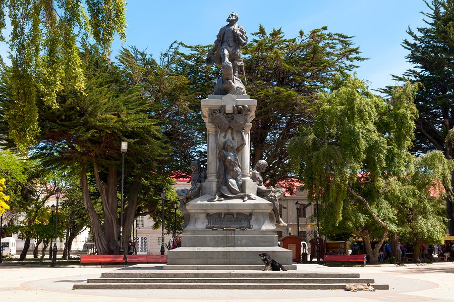 Monument to Fernando de Magallanes in punta arenas