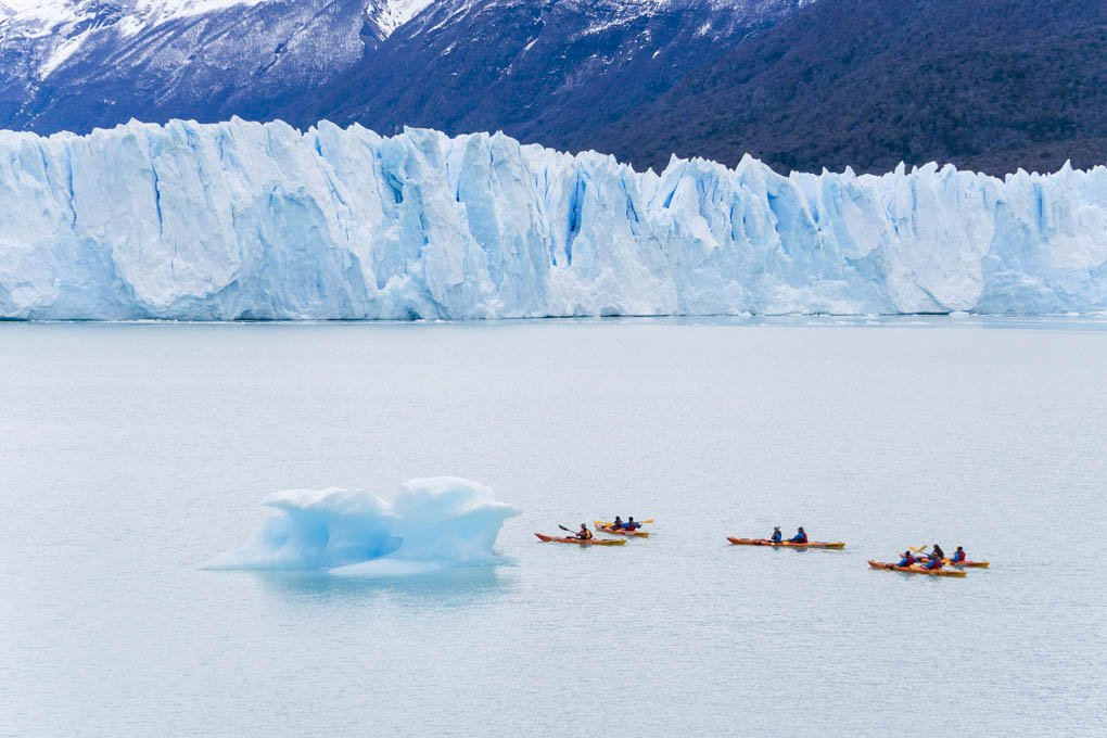 Kayaking at the Perito Moreno Glacier