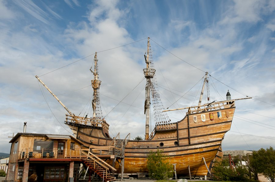 Magellan Replica Ship at the Nao Victoria Museum in Punta Arenas.