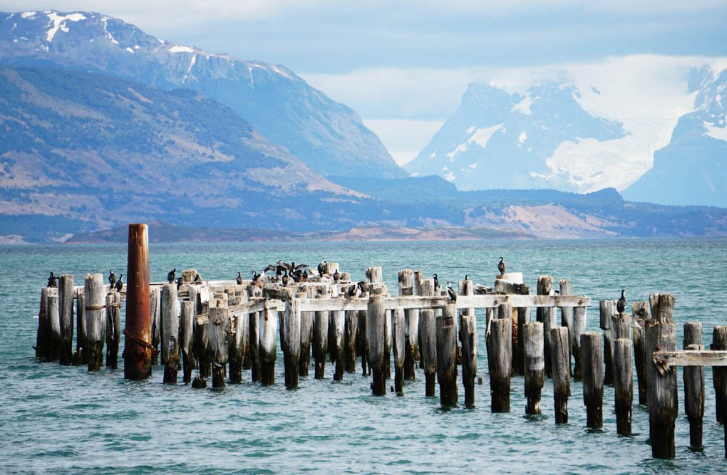 The abandoned pier in Puerto Natales, Chile