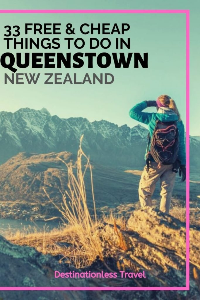 free and cheap things to do in Queenstown pinterest image