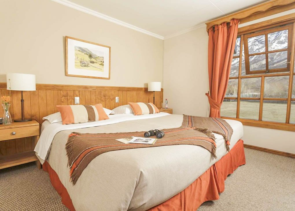The rooms at Hotel Las Torres Patagonia