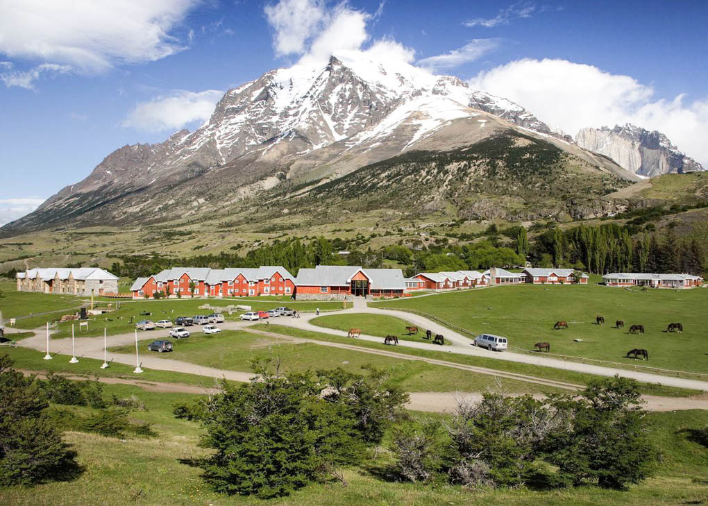 The view of Hotel Las Torres Patagonia