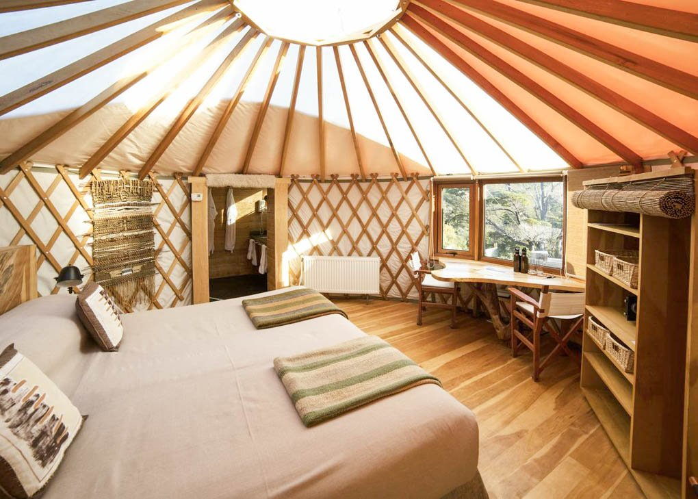 One of the rooms at Patagonia Camp