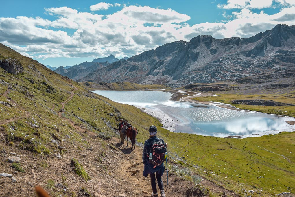 bailey trekking in peru on the huayhuash trail