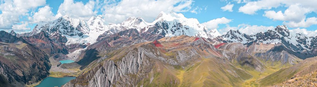 Panorama of the Cordillera Blanca MountainsPanorama of the