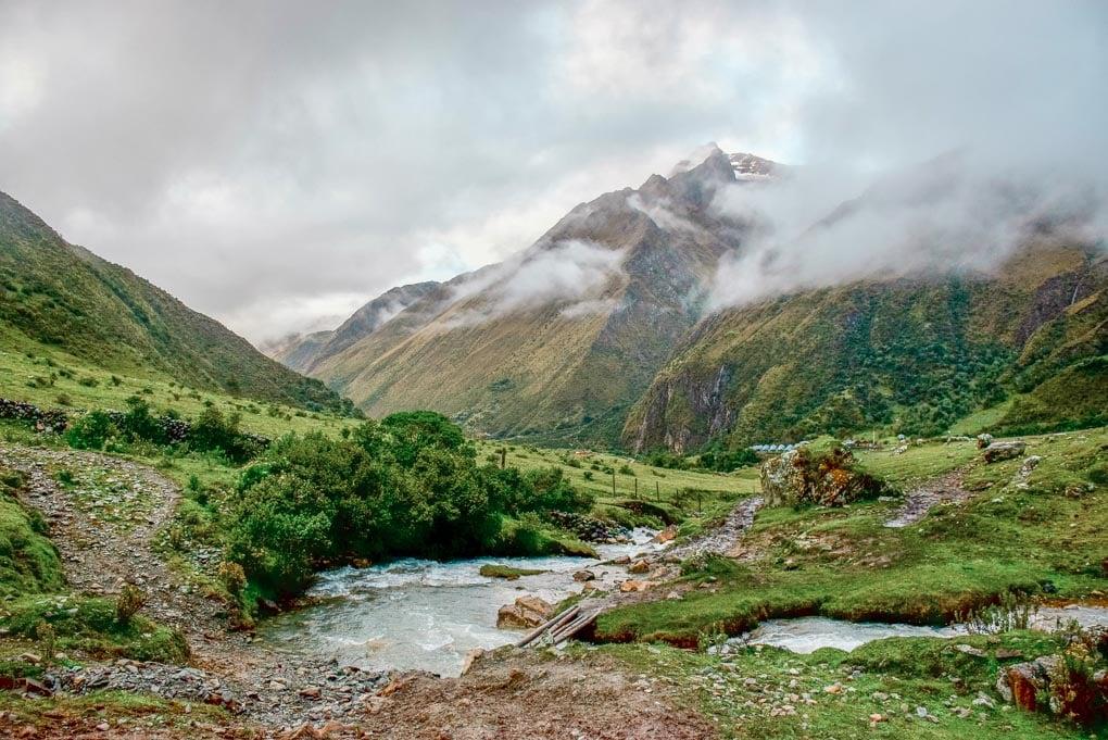Cloudy view on the Salkantay Trek, Peru