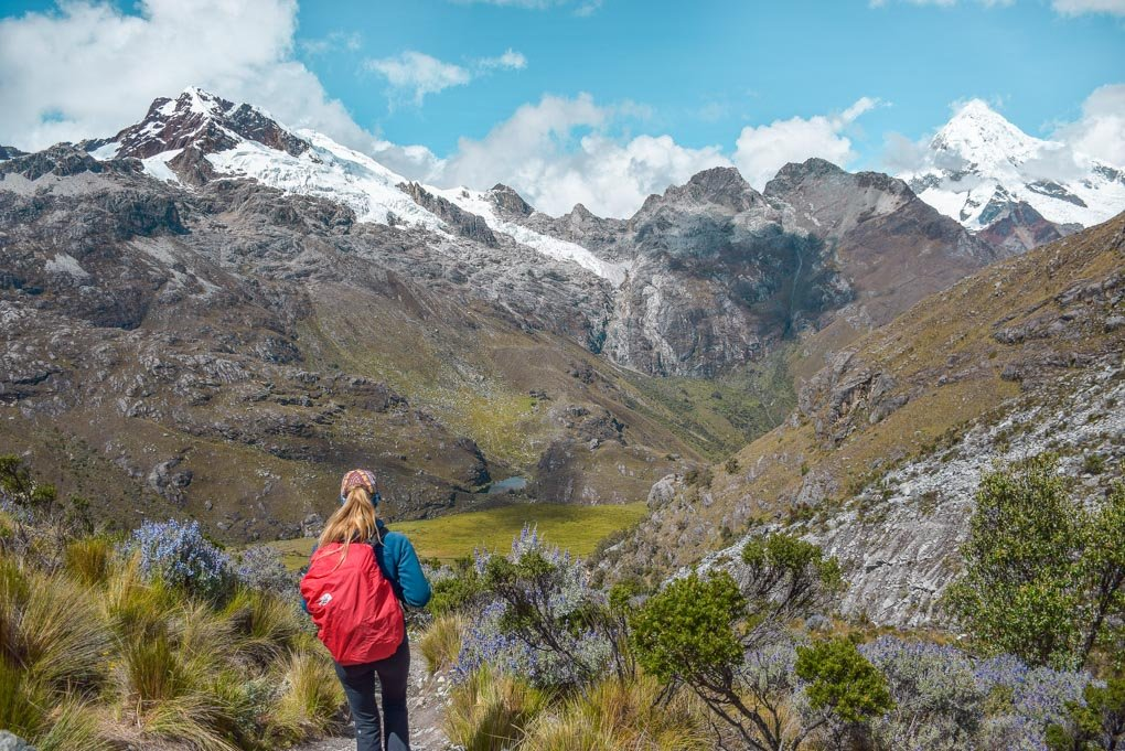 Hiking on the Laguna 69 Trek Huaraz, Peru