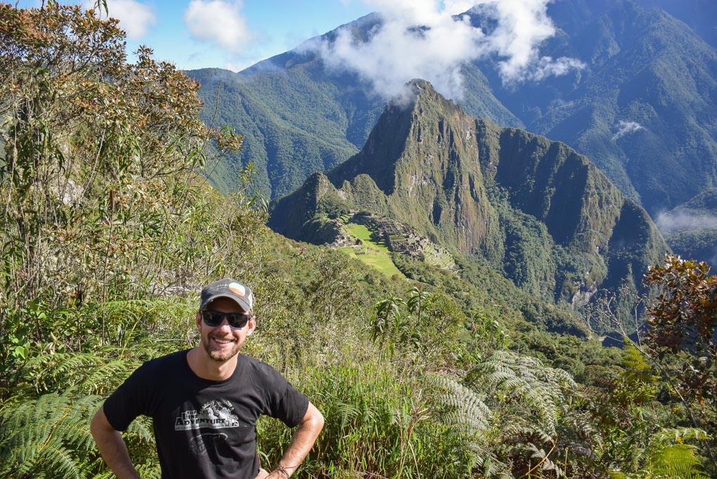 Taking a selfie with Machu Pichhu