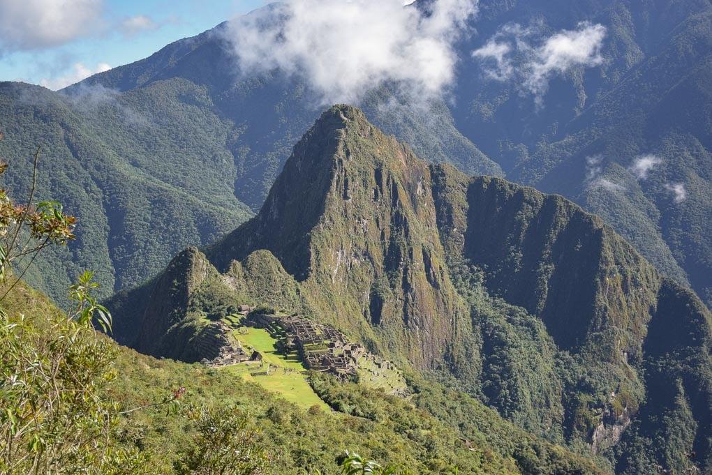 The views from Machu Picchu Mountain of Machu Picchu