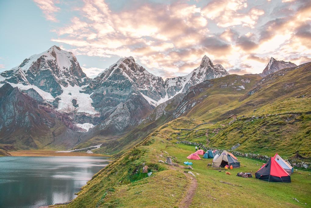 Camping on the huahuash Circut in Peru