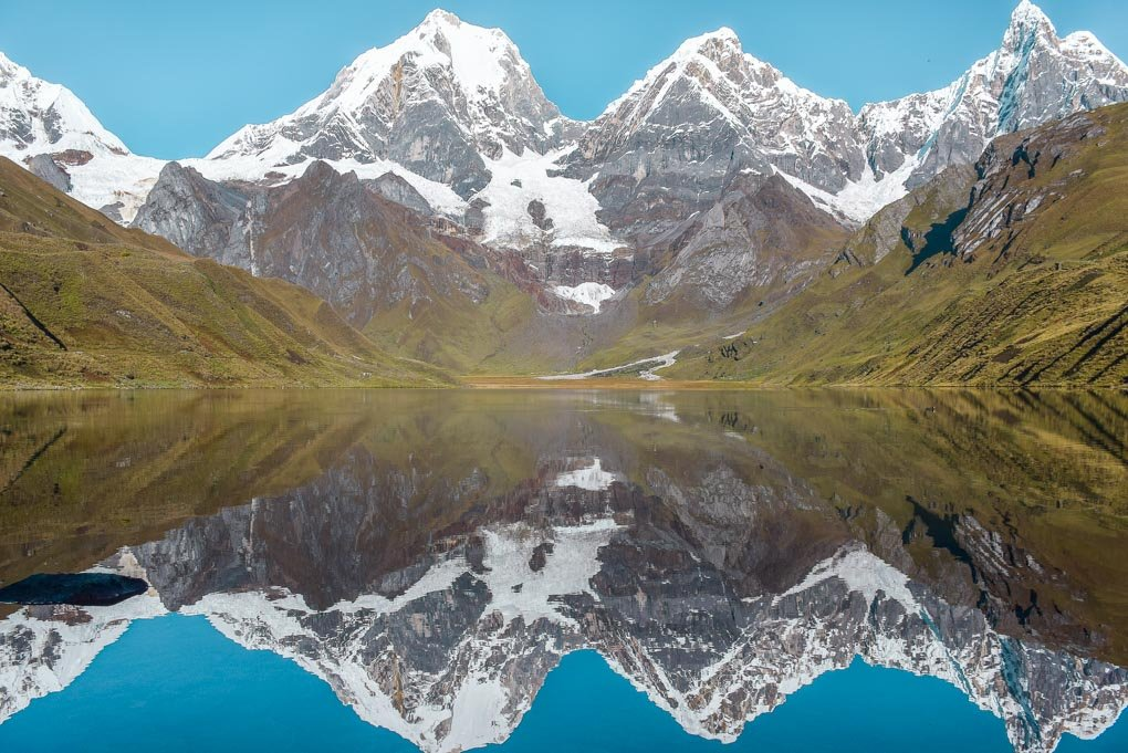 Mountains reflections on the Huayhuash Trek