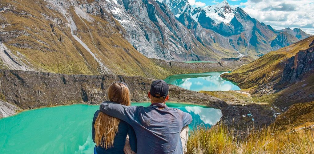 The most famous view on the Huayhuash of the three lagunas make it one of the best hikes in South America