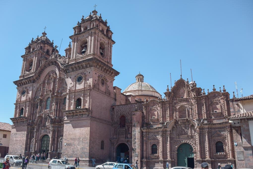 The main cathedral in Cusco, Peru