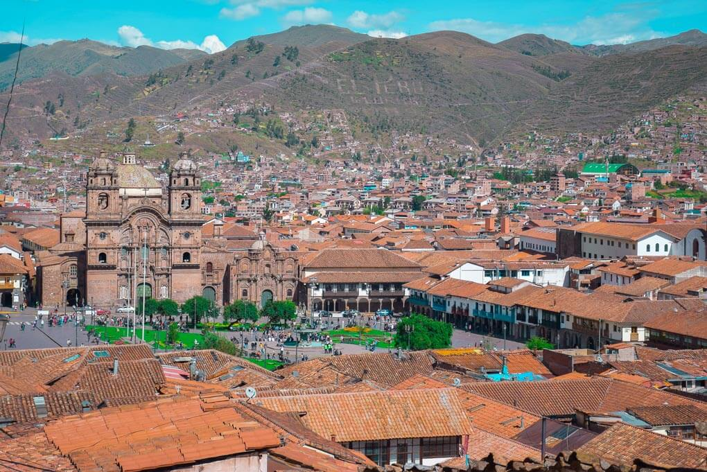 Panoramic shot of Cusco, Peru